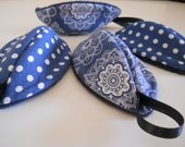 Diaper Changing Accessory / Pee Pod / Diaper Bag Accessories / Boy Baby Shower Gift / Navy Blue and White