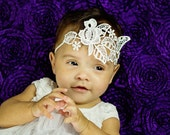 Baby girl headband Vintage retro lace pearl headband wedding birthday engagements baby infant ladies hairband baptism