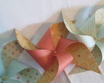 SALE 50% OFF Pinwheels in Cowboy or Cowgirl Designs Set of 8 Pinwheels Perfect for a Birthday Party or a Baby Shower or a Bat Mitzvah or Wed