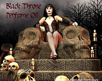 BLACK THRONE Perfume Oil - Black opium accord, oriental florals, teakwood, patchouli, vanilla, dark tea