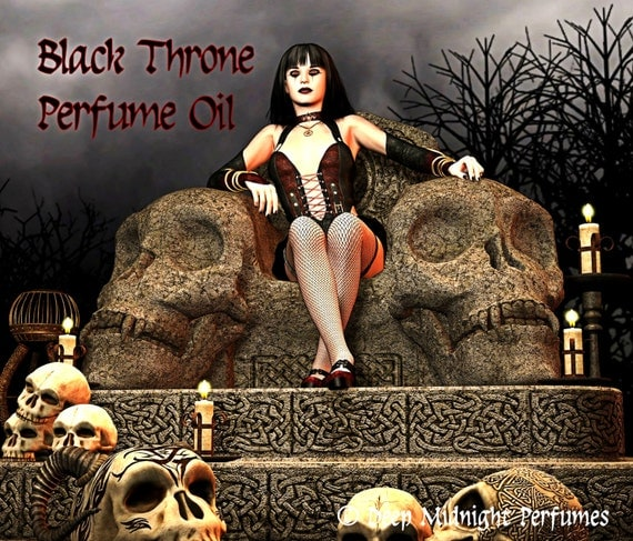 BLACK THRONE Perfume Oil - Black opium accord, oriental florals, teakwood, patchouli, vanilla, dark tea