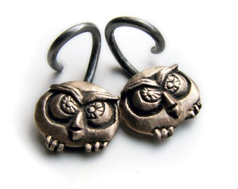 14 gauge owl earrings