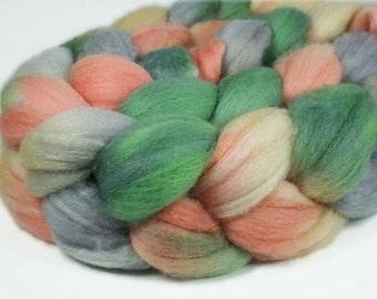 HEY PUMPKIN Merino/Silk hand-dyed roving - 4.0 oz