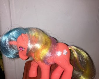 vintage 1985 Hasbro made in hong kong conclave foot Speedy my little pony twinkle eyed unicorn pony RAD