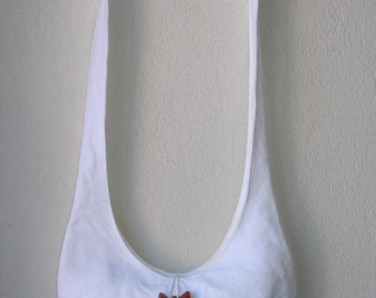 Petit sac en lin blanc et tissu coton blanc