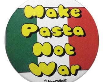 Hetalia 2Inch Button: Make Pasta Not War