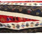 Old Alpaca Wool Blanket 1940s