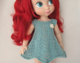 Teal KnittedDress for Disney Animator Doll