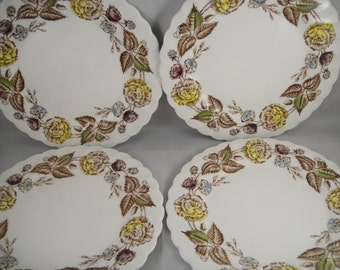 Fairwood Pattern Johson Bros. Bread and Butter Plates Set of Four (4)