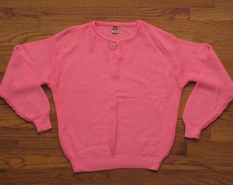 womens vintage hot pink sweater