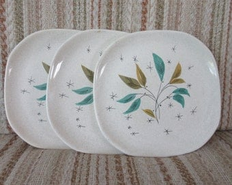 A Trio of Mid Century Sovereign Potters Leaf Plates
