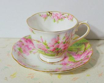 Vintage Royal Albet Blossom Time Teacup and saucer