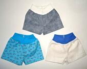 18 inch boy doll boxer shorts 3 pack blue ants white denim blue american made girl underwear pack
