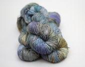 "Hand dyed Yarn, merino silk, Lilli sock yarn, ""Muscovy"""