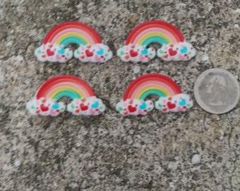 Rainbow Flatback Cabochon - Set of 4