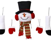 5 PCS 28.5 Inch Snowman Decor Kit XC9902, Wreath Decor, Deco Mesh Supplies