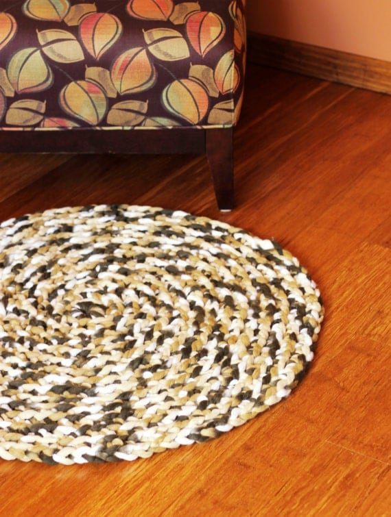 CLEARANCE Braided Round Rug Bath Mat Pet Mat Handmade