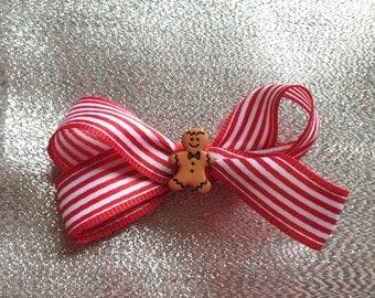 Gingerbread Man  Hair Bow