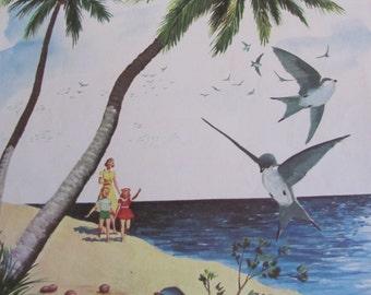 "Original Vintage School Classroom Poster Print - Circa 1965 - Seasons - 9"" x 12"""
