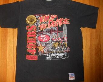 Vintage 1990s San Francisco 49ers Forty Niners T Shirt size xLarge NFL Football