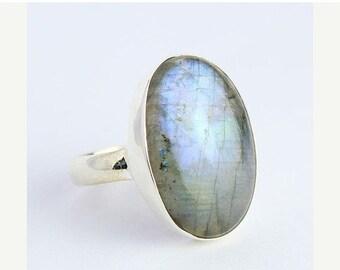 VALENTINE SALE 55% Labradorite Sterling Silver Ring 1276RG