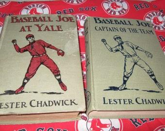 BASEBALL JOE Boy Series Books By Howard R. Garis aka Lester Chadwick At Yale and Captain Of The Team