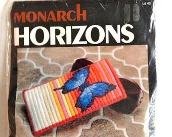 Butterfly Eyeglass Case Needlepoint Longstitch Kit – Monarch Horizons Kit No. LS43