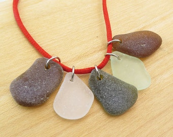 Sea Glass - Top Drilled Special Beach Glass for Jewelry/ Charms/Pendants with jump rings Surf tumbled Sea glass