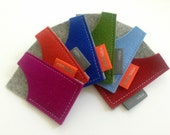 Mini Moo card case in pure wool felt, business card holder, felt business card case, eco-friendly, Free Shipping, handmade accessory mlmxoxo