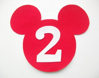 DIY Minnie Mickey Mouse Fabric Applique - Iron On