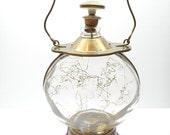 Vintage Musical Decanter , Glass and Brass Liquor Decanter Plays How Dry I Am