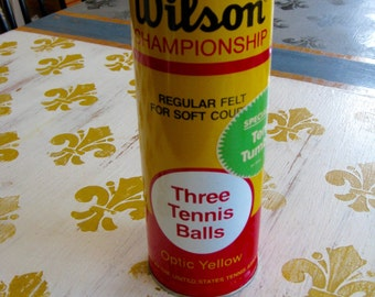 Sealed Wilson  Vintage METAL TENNIS Ball  Can Unopened Excellent