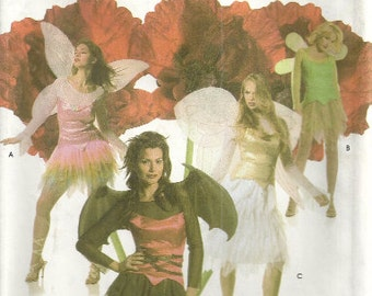 Women's Costume Pattern Simplicity 4902 Cosplay, Bat, Fairy, Tinkerbell Size 6 8 10 12