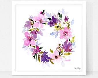 Art Print Floral Wreath