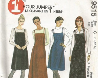McCall's 1 Hour Misses Jumper Pattern SZ 10-14