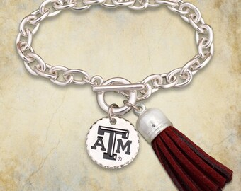 Texas A&M Aggies Fringe Toggle Bracelet