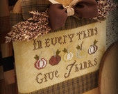 Give Thanks Pumpkin Bread Board Plaque