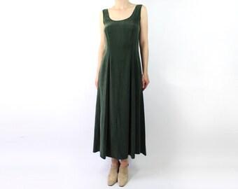 VINTAGE Tank Dress Maxi Fern Green