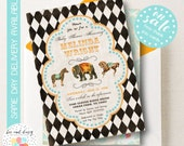 Vintage Circus Baby Shower Invitation - French Circus Baby Shower Invitation - Circus Party Invitation Printable Circus Birthday Invitation
