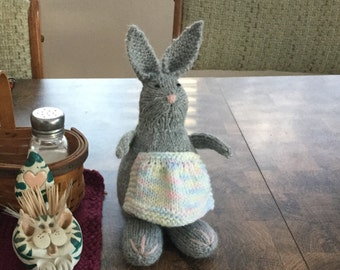 Knitted girl bunny