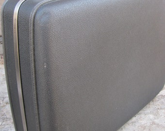 Sale!!!Vintage Gray American Tourister Hard Shell Suitcase 1960's Retro Luggage Travel