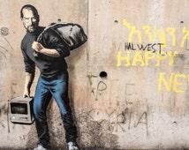 Banksy Canvas (READY TO HANG) - Steve Jobs - Multiple Canvas Sizes