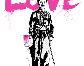 Mr Brainwash (READY TO HANG) - Love - Multiple Canvas Sizes