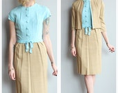 1960s Dress Set // Rubins Chicago Silk Dress & Jacket // vintage 60s sheath dress