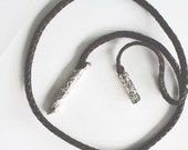 Vintage Brighton Leather Braided Wrap Belt
