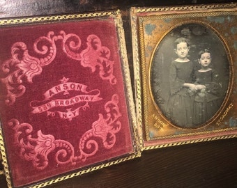 RESERVED / Do Not Buy / 1/6 1850s Daguerreotype of the Bliss Sisters by Anson New York