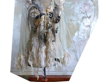 RESERVED A Bit Gold A Bit Spider's Web A Bit Fog Lots of My Art and We have WONDERFUL JACKET :))) Fairy Antoinette Tattered