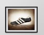 FLASH SALE til MIDNIGHT Vintage Track Shoe Photo Print, Boys Room, Wall Decor, Wall Art,  Man Cave,Boys Nursery Ideas, Gift Ideas,