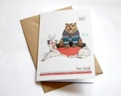 Bear Sleigh // Blank Greeting / Christmas Card