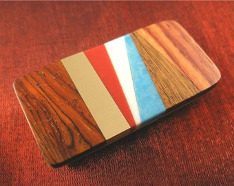 Red White and Blue Patriotic Turquoise Money Clip MC217
